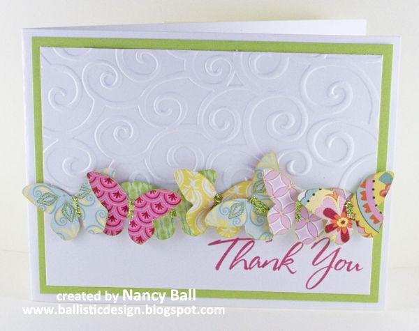 Nancy's CRAFTY blog: Butterflies in Chantilly!