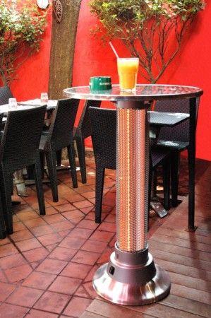 Ez a kis asztalka nem csak a koktél miatt lehet érdekes, ugyanis ez egy szénszál izzós elektromos fűtésű asztalka mozgásérzékelővel. Ideális megoldás teraszokra, pihenőhelyekre és kültéri dohányzó asztalokhoz. Mozgás érzékelős ezáltal lekapcsolja a fűtést, ha senki sem tartózkodik az asztaloknál. Egyszerűen szuper!