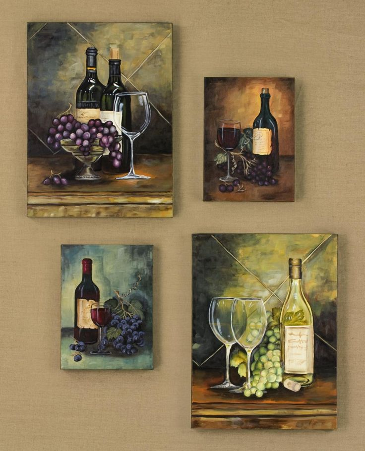 how to decorate a wine bottle   Hand Painted Wine Wall Art   Wine Decorative Art & Accessories