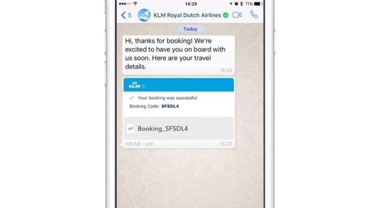 KLM Kini Menghantar Maklumat Penerbangan Terus Ke WhatsApp Anda  Lanjutan daripada pengumuman pihak WhatsApp pada awal pagi ini kini syarikat penerbangan terkemuka KLM mengumumkan penawaran akaun WhatsApp rasmi KLM yang akan menghantar pelbagai informasi penerbangan kepada anda selepas anda membuat tempahan penerbangan mereka.  Menurt KLM mereka akan menghantar informasi pengesahan tempahan notifikasi daftar masuk tiket penerbangan dan kemaskini status penerbangan terus melalui WhatsApp…