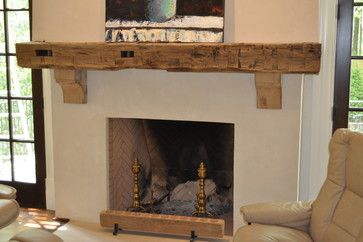 Reclaimed Wood Mantle Design Ideas, Pictures, Remodel, and Decor - page 11