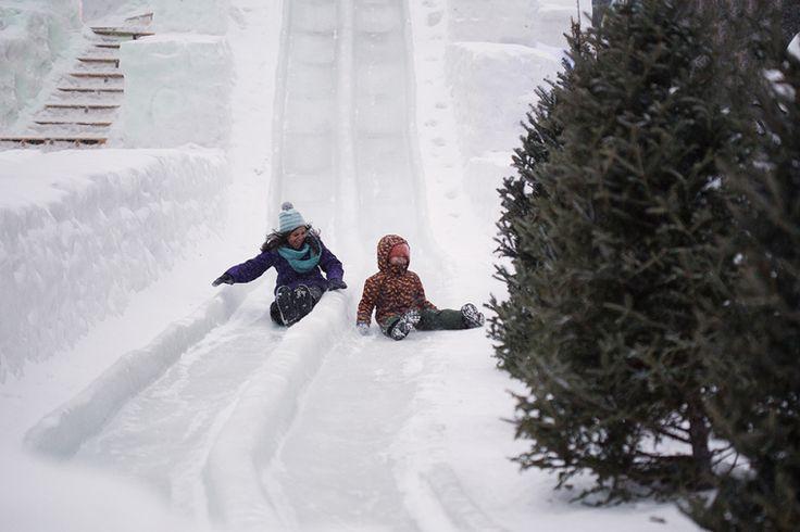 Edmonton Winter Fun, Ice on Whyte giant ice slide