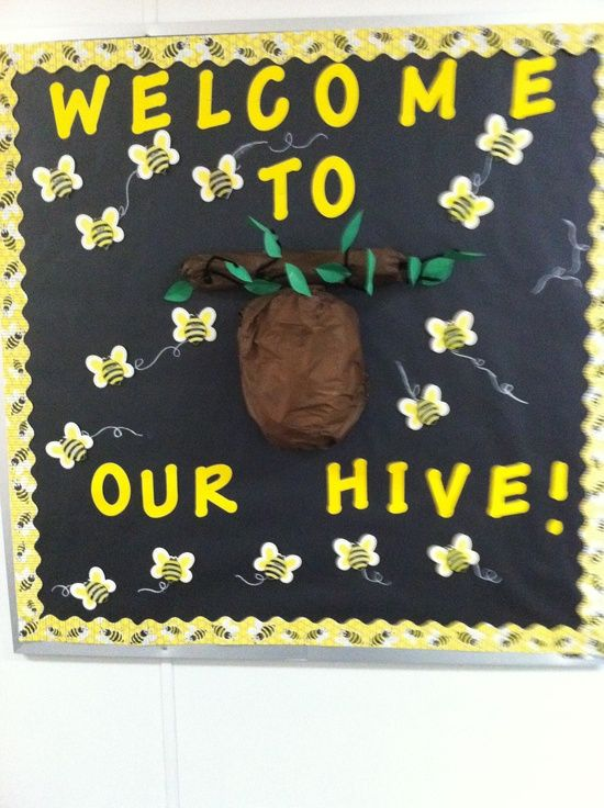 Bee themed bulletin board ideas | Classroom Ideas / My Bee Themed bulletin board. The first week of ...
