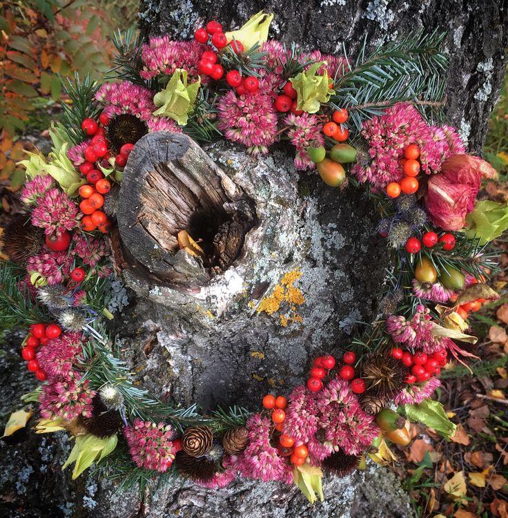 #krans #wreath #flower arrangement#kukkasidonta#seppele#käsityö