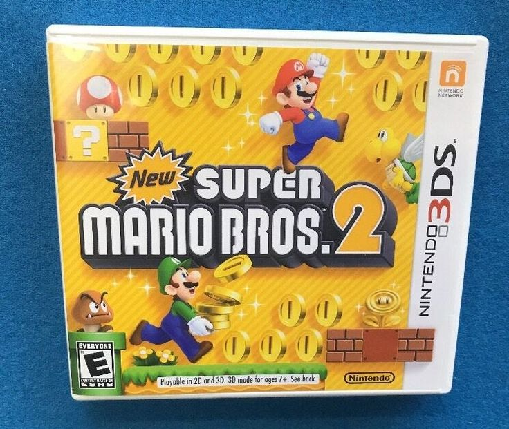 Super Mario Brothers Bros 2 Nintendo 3DS Video Game with Manual