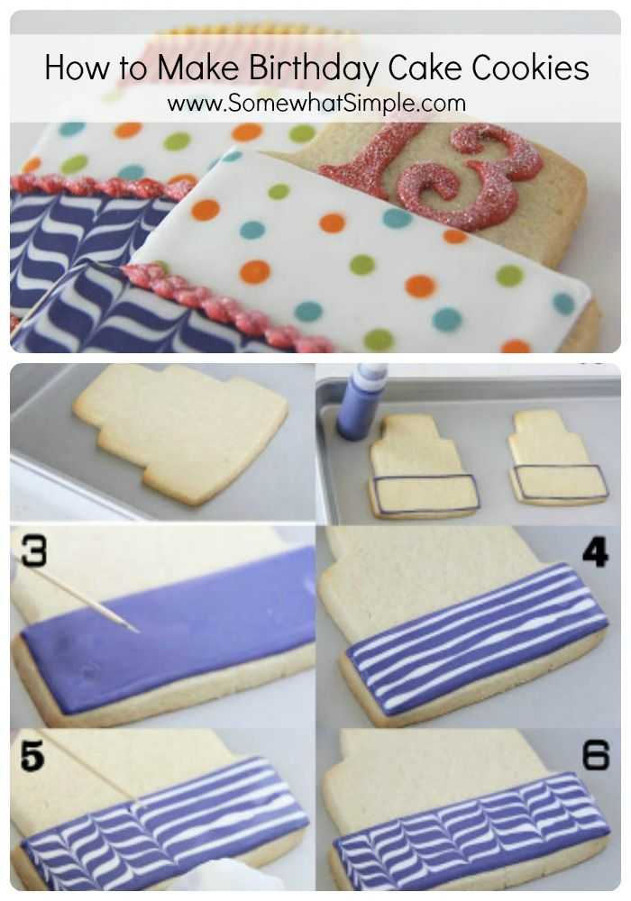 birthday cake cookies! From www.SomewhatSimple.com