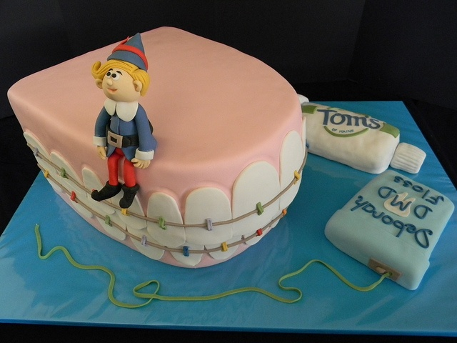Hermie Dental School Graduation Cake By-The Mad Platters