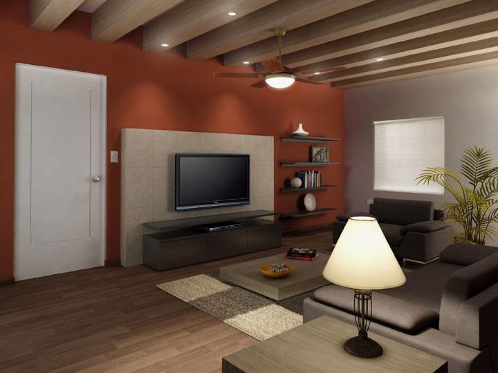 Los colores terrenales y ocre con una iluminación tenue o ambiental evocan una sensación acogedora en el hogar.