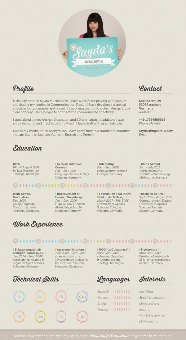 10 best Graphically Designed Resumes images on Pinterest Creative
