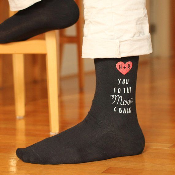 Novelty Socks personalized with a photo holiday Great for fun wedding text or both of your choice birthday or birth announcement gifts.
