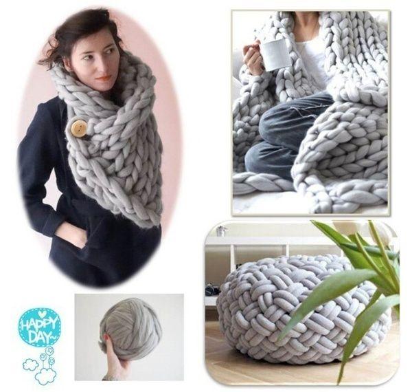 Wish | Thick Yarn Iceland Wool Yarn Thick Woolen Chunky Yarn Bulky Roving Big Knitting Yarn Hand Knitting Crochet