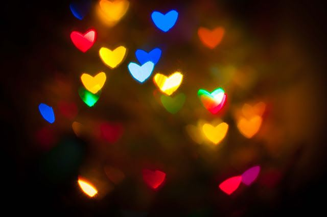 Happy Colors, Bokeh pictures, hearts, christmas lights, Olivia J Photography