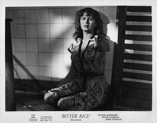 Silvana Mangano  Riso Amaro, (Arroz Amargo) Giuseppe De Santis (1949)
