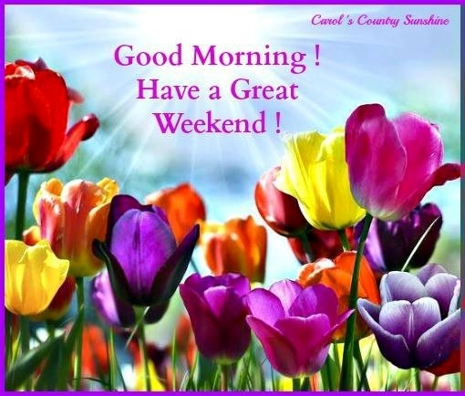 Good morning, have a great weekend! via Carol's Country Sunshine on Facebook