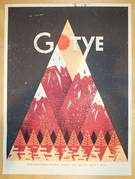 2012 Gotye - Chicago Concert Poster by Doe Eyed Design