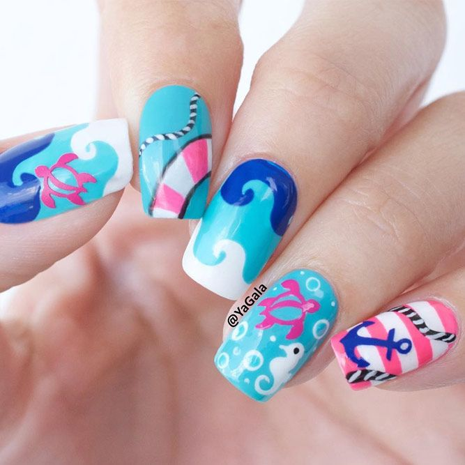 3301 best popular nail designs images on pinterest nail scissors swimming pool summer nail art ideas that will cheer you up see more http prinsesfo Choice Image