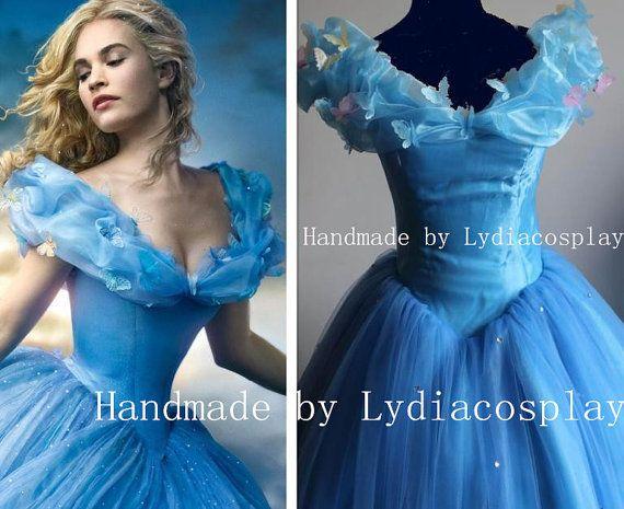 Handmade Cinderella Dress New Cinderella Movie by LydiaCosplay