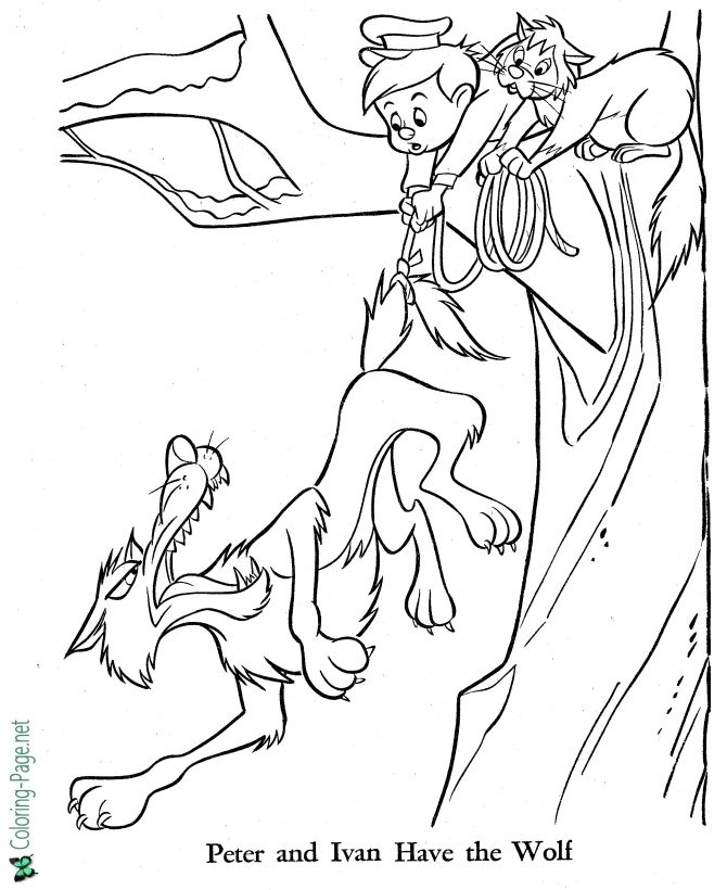 Peter And The Wolf Coloring Pages Fairy Tale Free Coloring Pages Coloring Pages Wolf Colors