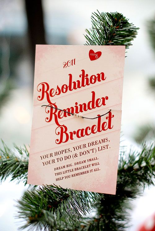 New Years resolution reminder bracelets....cute little DIY gift.