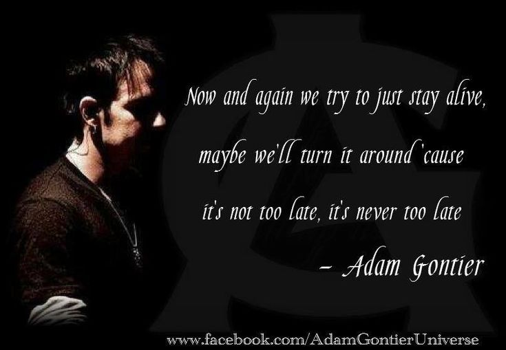 Never Too Late - Three Days Grace, Adam Gontier