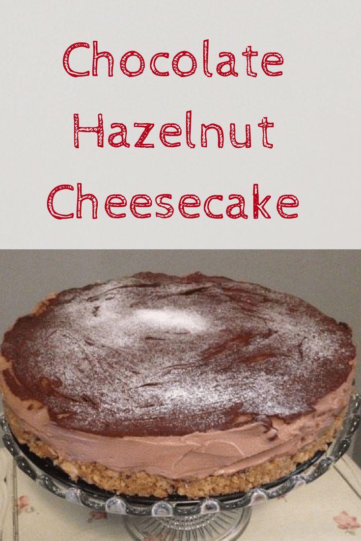 Chocolate Hazelnut Cheesecake – No baking required!