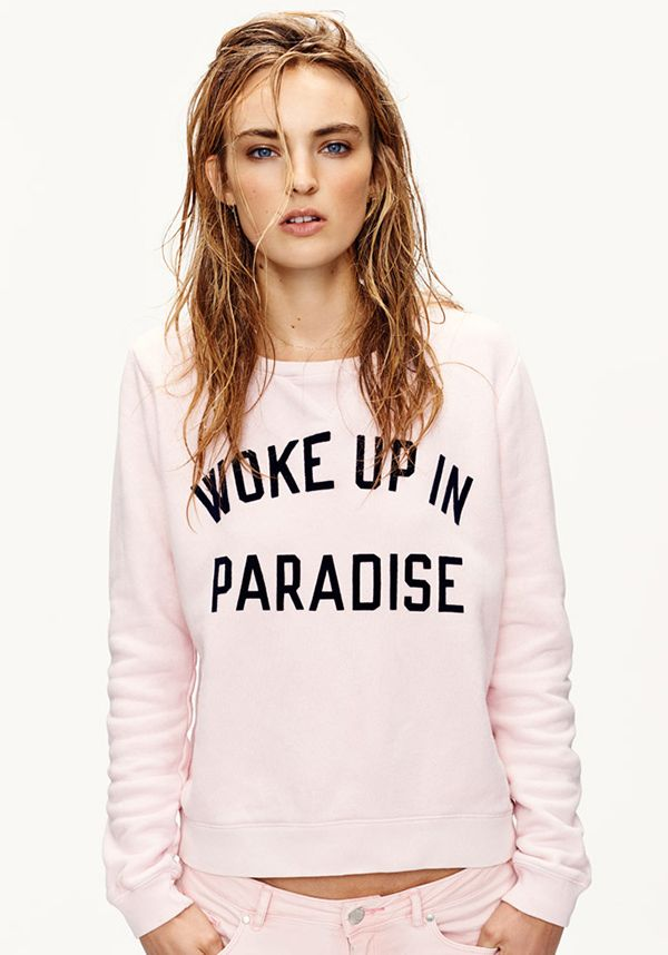 Waking up in paradise this spring with Scotch // summer 2015. Find this Pin  and more on Words on Clothes ...