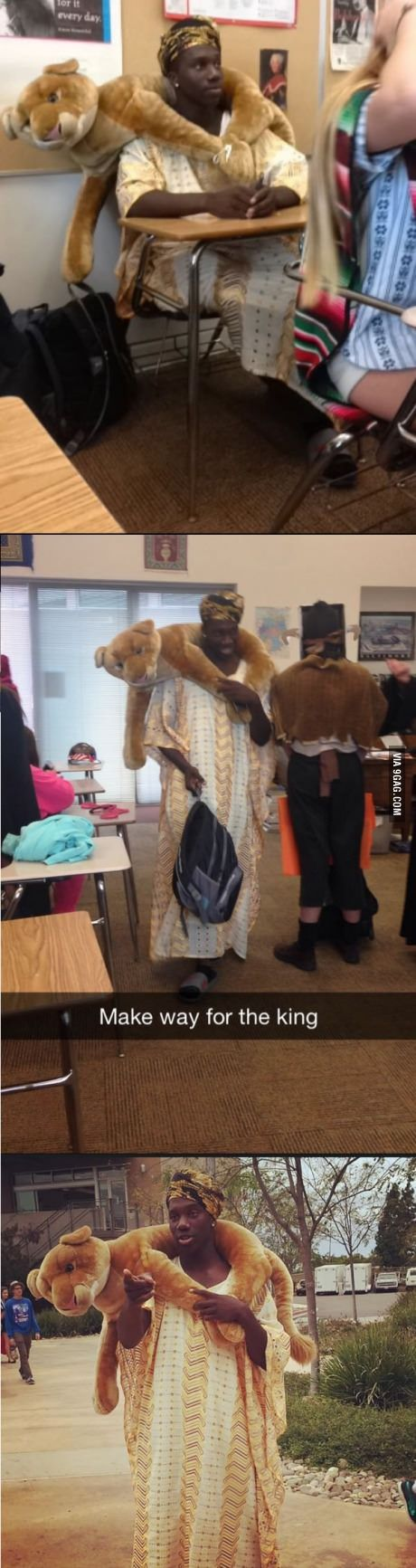 So this guy dressed up as a Nigerian prince