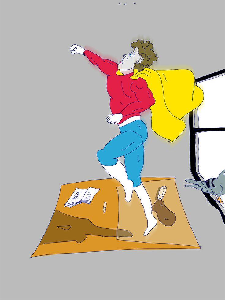 Feeling like Superman (drawn Erik Rutten)