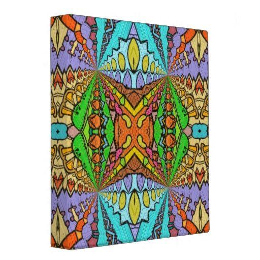colorful kaleidoscopic pattern binder