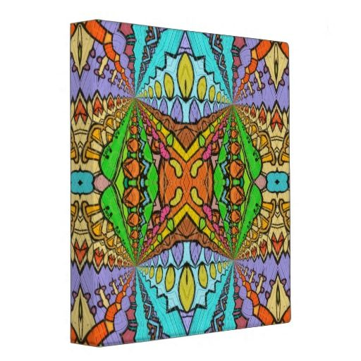 colorful kaleidoscopic pattern binder