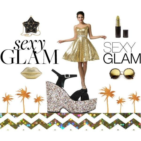 Sexy Glam by inogitnadesigns on Polyvore featuring Aspinal of London, Lulu Guinness and ZeroUV