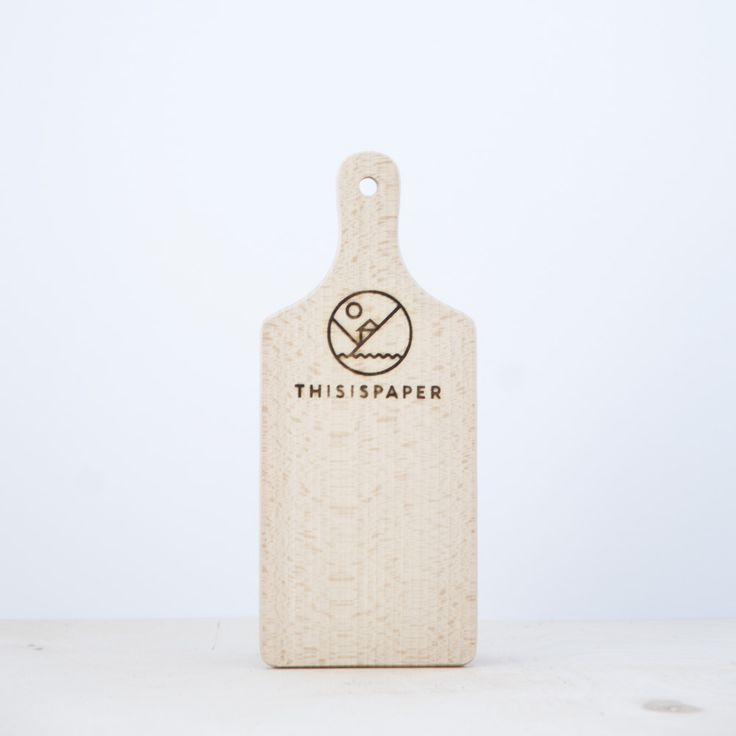 A traditional cutting board with a handle, made of high quality beech wood. The logo is manually burnt. $5.15