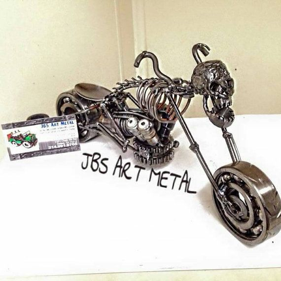 Hanmade Motorcycle skull scrap metal JBS ART by JbsArtametal87