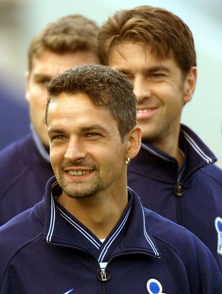 the little maestro and his defender. my beloved legends - R. Baggio and Costacurta.