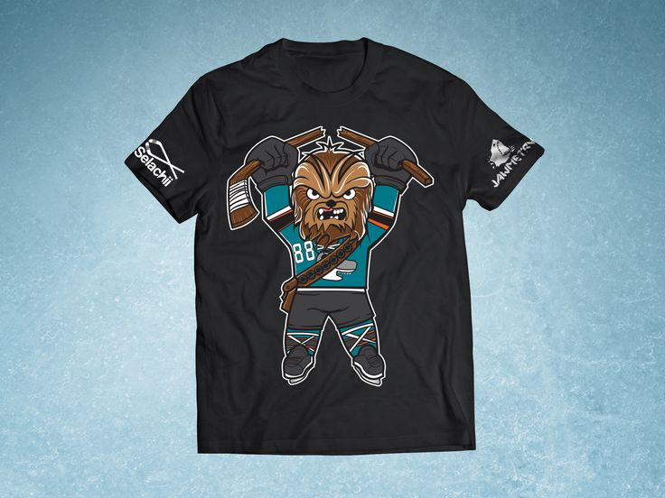 Brent Burns aka CHEWBACCA is one of the most loved defenseman on the San Jose Sharks! To show your appreciation for the wookie, grab a shirt now at JAWMETRY.com!