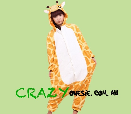 Giraffe Onesie. 25% off EVERYTHING in store. Free Express Delivery Australia-wide. Visit www.crazyonesie.com.au for more details. Visit our Facebook page https://www.facebook.com/crazyonesie for exclusive competitions and discounts