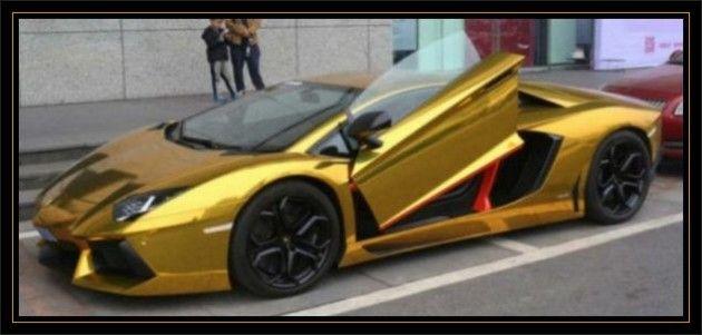 Gold Lamborghini Aventador Price