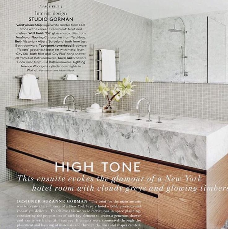 Fabulous Super White bathroom designed by @studiogorman and featured in October @bellemagazineau  #cdkstone #superwhitedolomite #superwhitemarble #superwhite #domite #marble #naturalstone #naturesmasterpiece #naturalbeauty #dedigninspiration #bathroominspiration