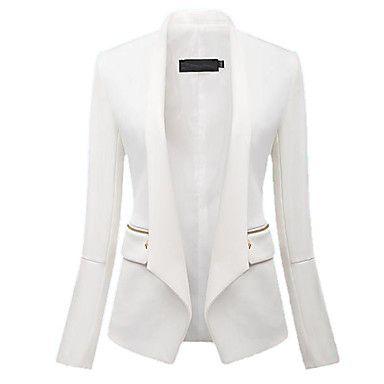 SANFENZISE™ Women's Fashion Cultivate One's Morality Zipper Leather Coat - USD $ 34.99