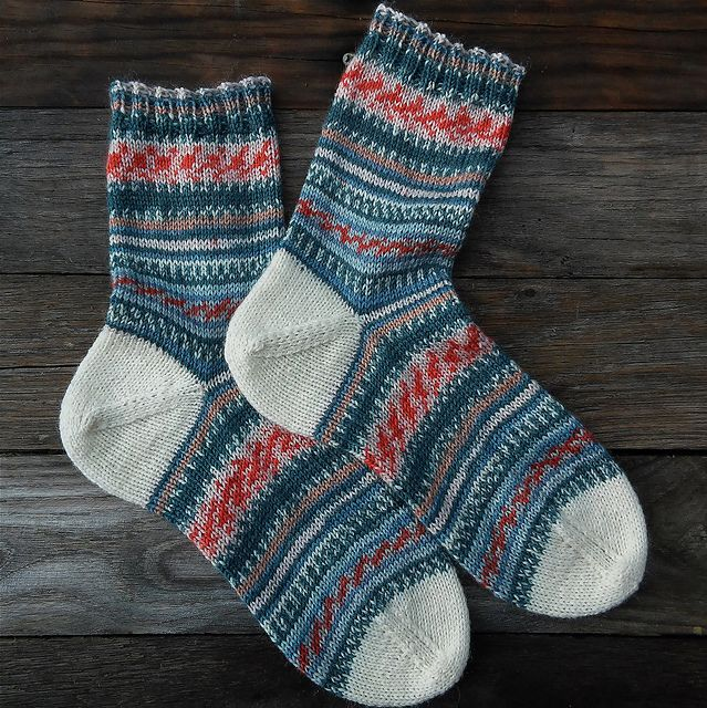 summer a&c: *pattern: afterthought heel socks* *yarn: schachenmayr regia design line by arne & carlos* *june*