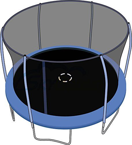SkyBound 12 ft. (Trampoline Frame Size) Replacement Netting for 6 Straight Curved and Top Ring Pole Enclosure Systems . (Fits Brands Bounce Pro / Sports Power) (Net Only)