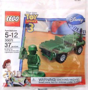 LEGO Toy Story 3 ARMY MAN & JEEP Minifigure Bag 30071 (37 pieces) by LEGO. $4.93. LEGO Toy Story 3 ARMY MAN & JEEP Minifigure Bag 30071 (37 pieces). LEGO Toy Story 3 ARMY MAN & JEEP Minifigure Bag 30071 (37 pieces)