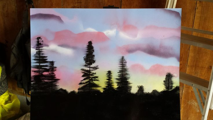 I recreated a photo one of my friends sent me of a sunset