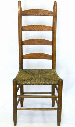 Antique Ladder Back Chair With Rush Seat Ladder Back
