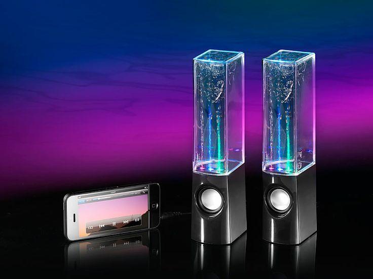 #Wasser- #Lautsprecher: #Lichtorgel, Stereo-Sound und Springbrunnen in einem!