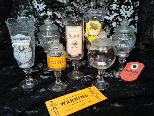 apothecary jars i made from dollar tree items - Dollar Tree Halloween