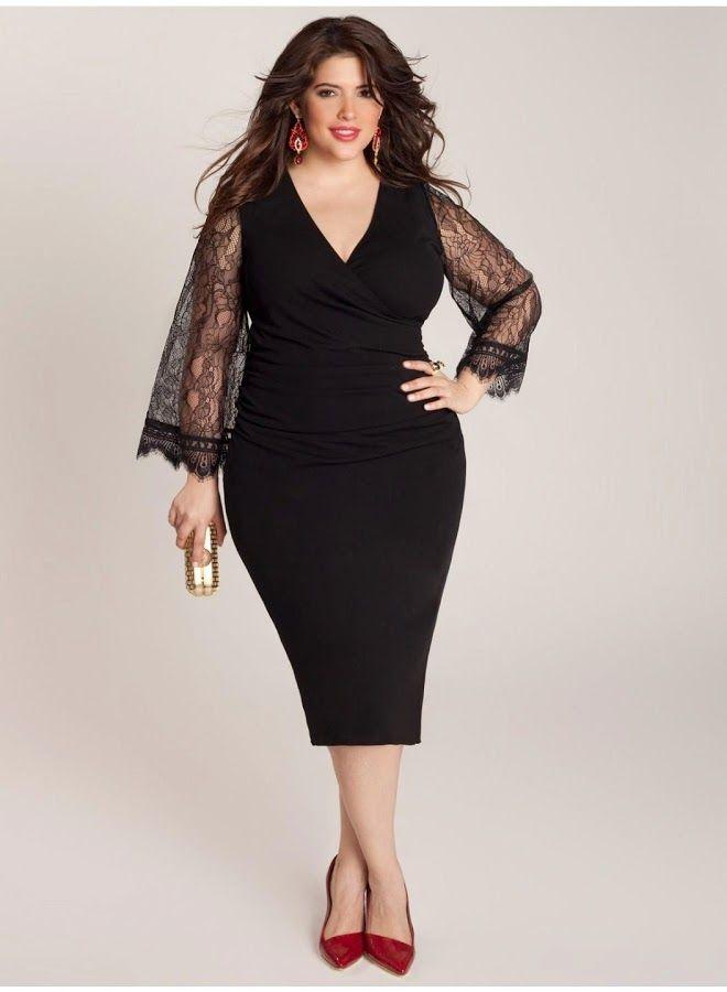 Vestido fiesta negro. XXL. #Curvy. Idea, no patrón. No te pierdas esta selección de looks y consejos para chicas con curvas.