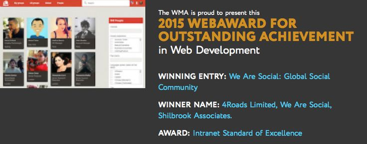 We Are Social gets awarded for its internal social community   simply communicate
