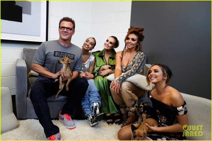 little mix play with puppies at iheartradio music festival 01