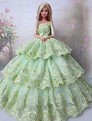 robe+de+poupée+barbie+partie+pour+greensleeves+dame+–+EUR+€+8.81